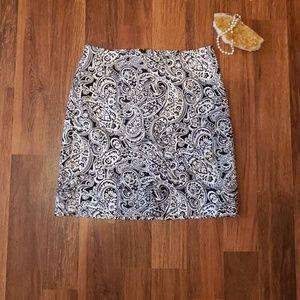 Talbots Paisley print Cotton Skirt